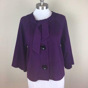 Anne Klein Jackets & Blazers - Anne Klein Purple Wool Blazer