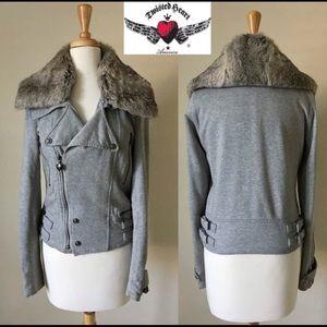 Twisted Heart💕 Rabbit Fur Collar Blazer Jacket
