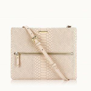 GiGi New York Embossed Python Crossbody Bag