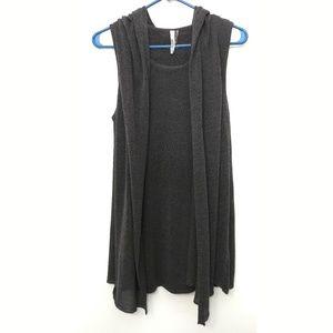 Miilla Clothing Sweaters - Miilla Hooded Vest+Tunic One Piece, US M
