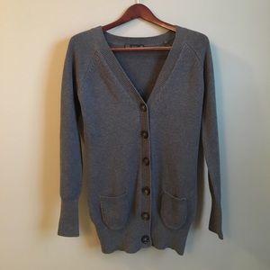 Zara Sweaters - ZARA | Long Cotton Grey Cardigan