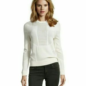 Torn by Ronny Kobo Tops - Torn by Ronny Kobo Faige Geo Pointelle Sweatshirt