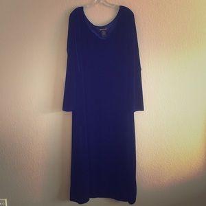 Vintage 1990s Velvet Maxi Dress