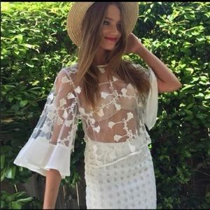 Sabo Skirt Tops - Lace angel wing blouse
