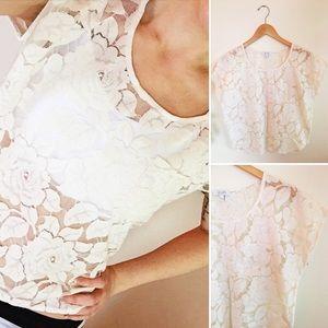 Lace Floral Crop Top   dELiA*s