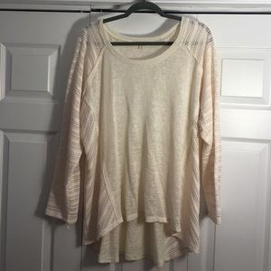 love on a hanger Sweaters - Cream Hi-Low Top