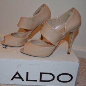 Aldo Shoes - Nude patent Aldo heels fits like 8-9