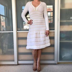 Alaia Dresses & Skirts - Alaïa white long sleeve tiered dress