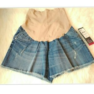 Oh Baby by Motherhood Pants - Oh Baby Distressed Denim Cut-Off Maternity Shorts