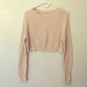 Rubbish Sweaters - Rubbish Cropped Long Sleeved Sweater