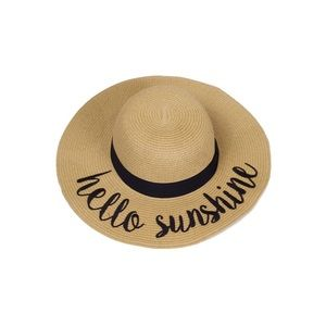 "Hannah Beury Accessories - ""Hello Sunshine"" Floppy Beach Hat"