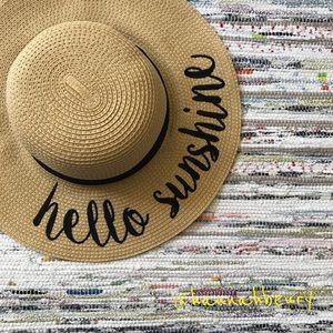 """""""Hello Sunshine"""" Floppy Beach Hat"""
