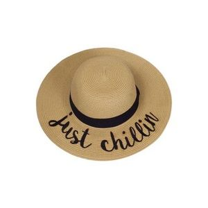 "Hannah Beury Accessories - ""Just Chillin"" Floppy Beach Hat"