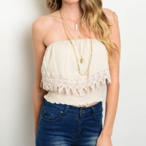 Tops - 🤩CLEARANCE🤩LAST ONE! Boho strapless top