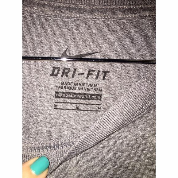 Nike Shirts - NIKE DRI Fit Grey Short Sleeve Shirt