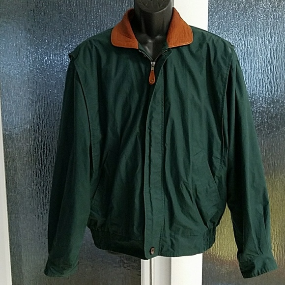 8054efa5c Gant Jacket W/Leather Collar