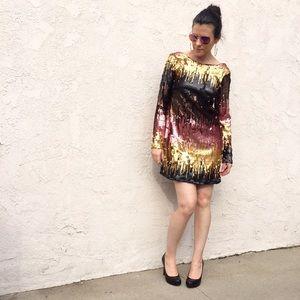 CHARLOTTE RUSSE Ombré Sequin Mini Dress XS New
