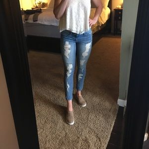 Vici Collection Denim - Distressed ankle jeans