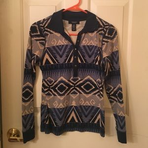 Chaps Tops - Chaps Pattern Long Sleeve, size S
