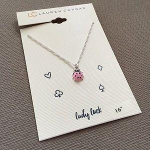 LC Lauren Conrad Jewelry - Lauren Conrad Ladybug 'Lady Luck' necklace
