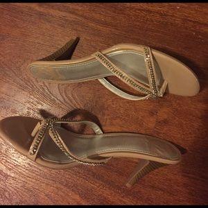 Fergalicious Shoes - Nude sparkly Fergalicious heels