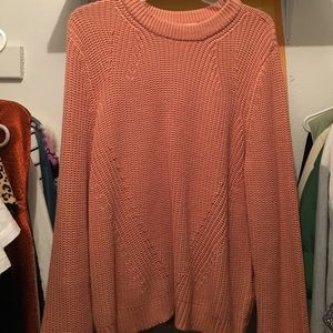 nude/pink knit sweater