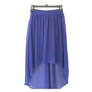 Fire Los Angeles Dresses & Skirts - High-Low Royal Blue Skirt