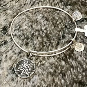 Alex & Ani Jewelry - Alex & Ani Seven Swords II Bangle Bracelet Silver