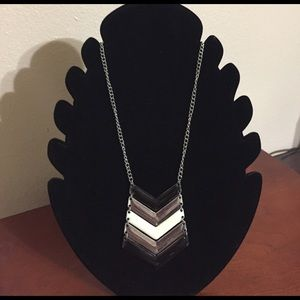 Jewelry - Black, Silver, and White Necklace