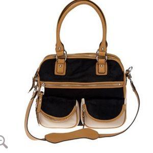 Aimee Kestenberg Handbags - Black and Tan purse w/ calf hair Aimee Kestenberg