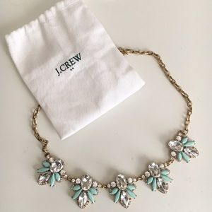 J. Crew Jewelry - J.Crew Mint and Gold Statement Necklace