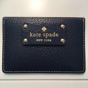 Kate Spade Navy/Tan Card Case