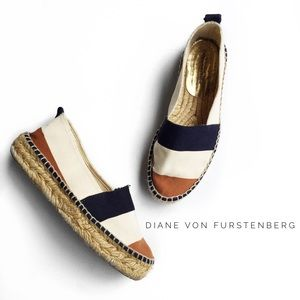 Diane von Furstenberg Shoes - • diane von furstenberg striped espadrille flats •