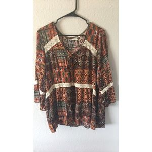 Bell Sleeve 70s style Top