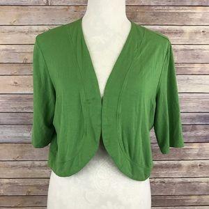Soma Sweaters - Soma Green French Sleeve Shrug Large D1