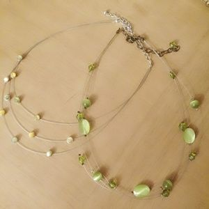 Jewelry - 🍀2 green necklaces in time for Paddy's Day!