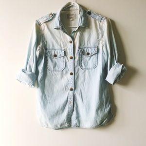 Current/Elliott Tops - Current/Elliot Chambray Shirt
