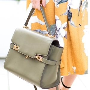 FLASH SALE 🔥 Henri Bendel Uptown Satchel in Olive