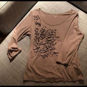 Garnet Hill Tops - Garnet Hill Embellished 3/4 Sleeve Shirt