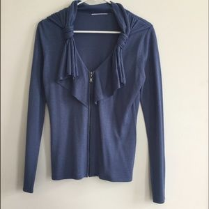 T Tahari Sweaters - T Tahari Blue Zip cardigan
