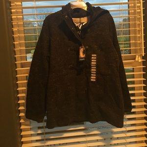 Sebby Jackets & Blazers - Black hooded pea coat