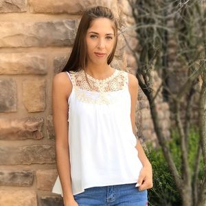 Threads & Trends Tops - Olivia Crochet Sleeveless Blouse