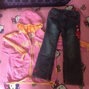 EUC 4T Jeans & Hoodie by PUMPKIN PATCH & ADIDAS