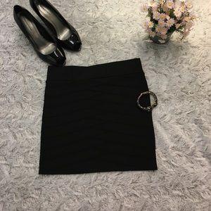 AKIRA Dresses & Skirts - Akira Textured Black Mini Skirt