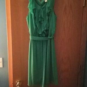 Emma and Michele Green Ruffle Dress