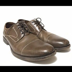 Robert Wayne Other - Robert Wayne Gray Leather Cap Toe Shoes Size 9