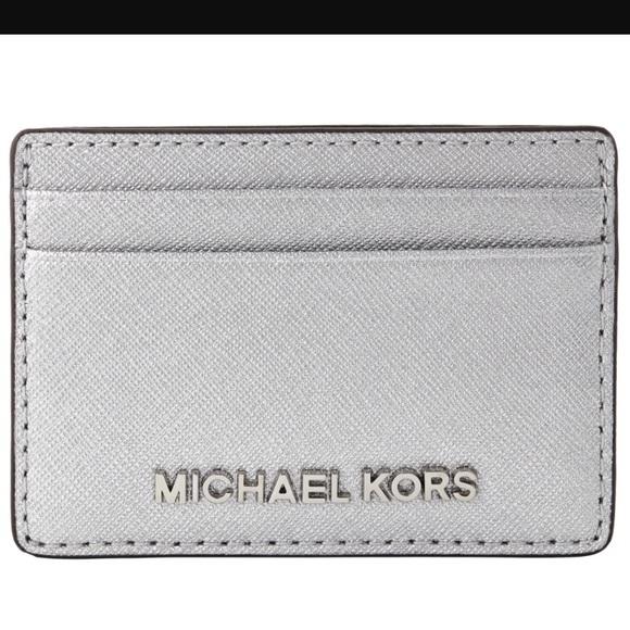 4635c5aa79792 Michael Kors Accessories - Michael Kors Jet Set Card Holder - Silver