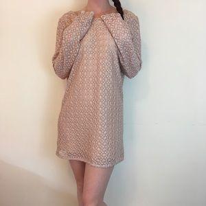 Stone Cold Fox Dresses & Skirts - STONE COLD FOX Rose Pink Crochet Boho Mini Dress