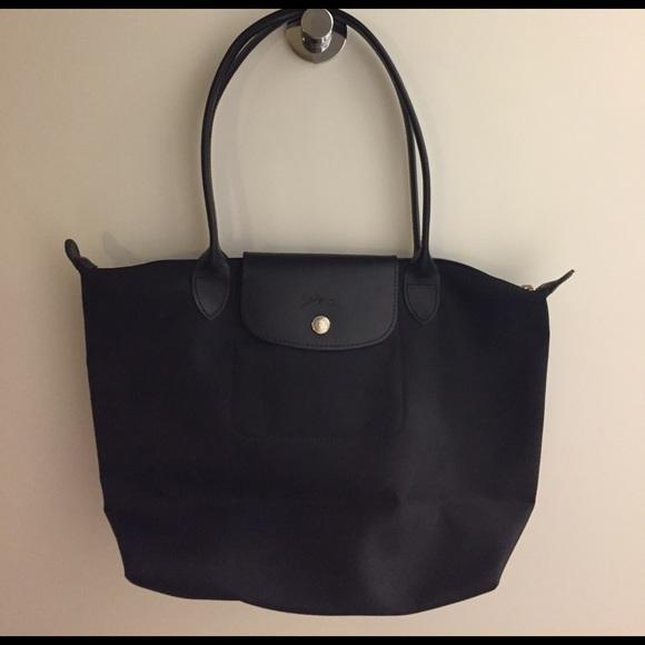 94cdcbc05351 NWT - Black Le Pilage Neo Longchamp Tote - Medium