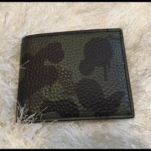 Coach Other - Coach men's leather bifold wallet camouflage